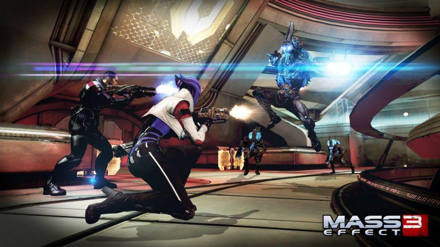 Mass Effect 3 Battle Alien Games Fantasy sci-fi warrior wallpaper