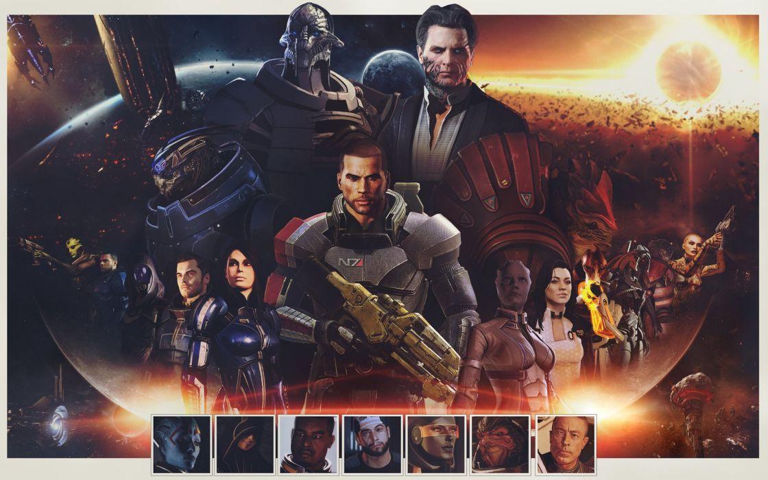 Mass Effect Warrior Shepard Alien Games poster sci-fi wallpaper