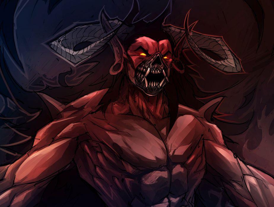 Demon Monster Horns Fantasy dark wallpaper