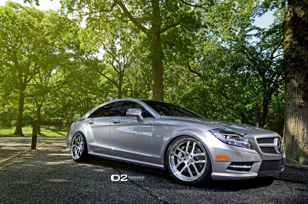 D2FORGED Wheels tuning cars Mercedes CLS wallpaper