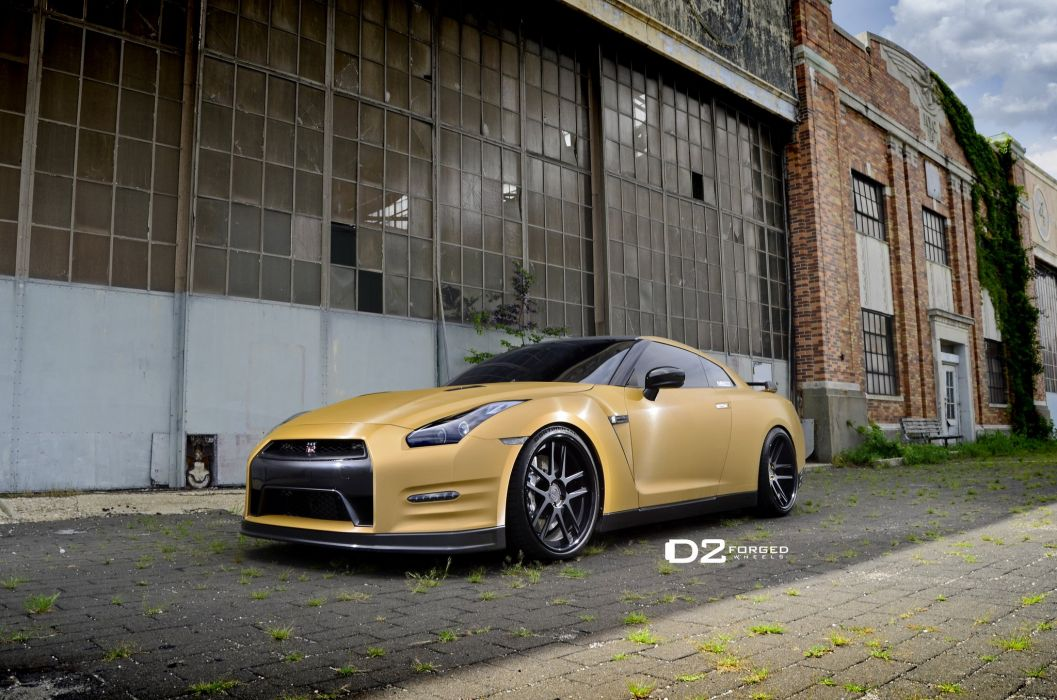 D2FORGED Wheels tuning cars Nissan GTR wallpaper