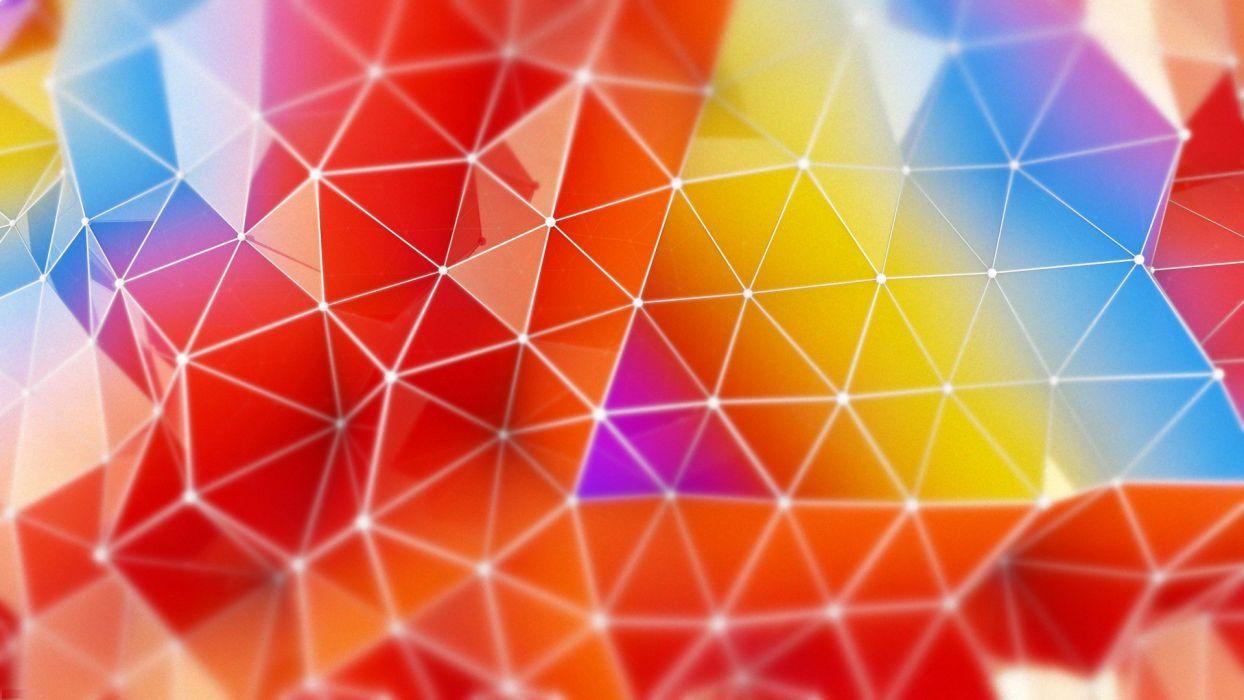 abstracto colores triangulos wallpaper