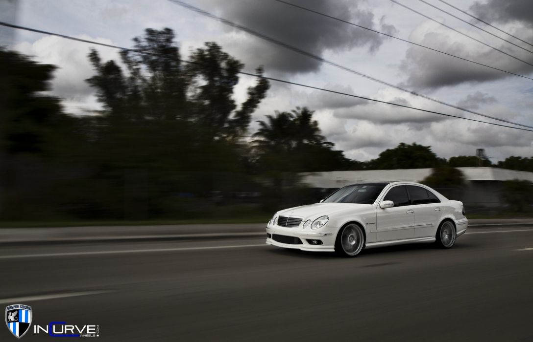 Incurve Wheels tuning cars mercedes E55 AMG wallpaper