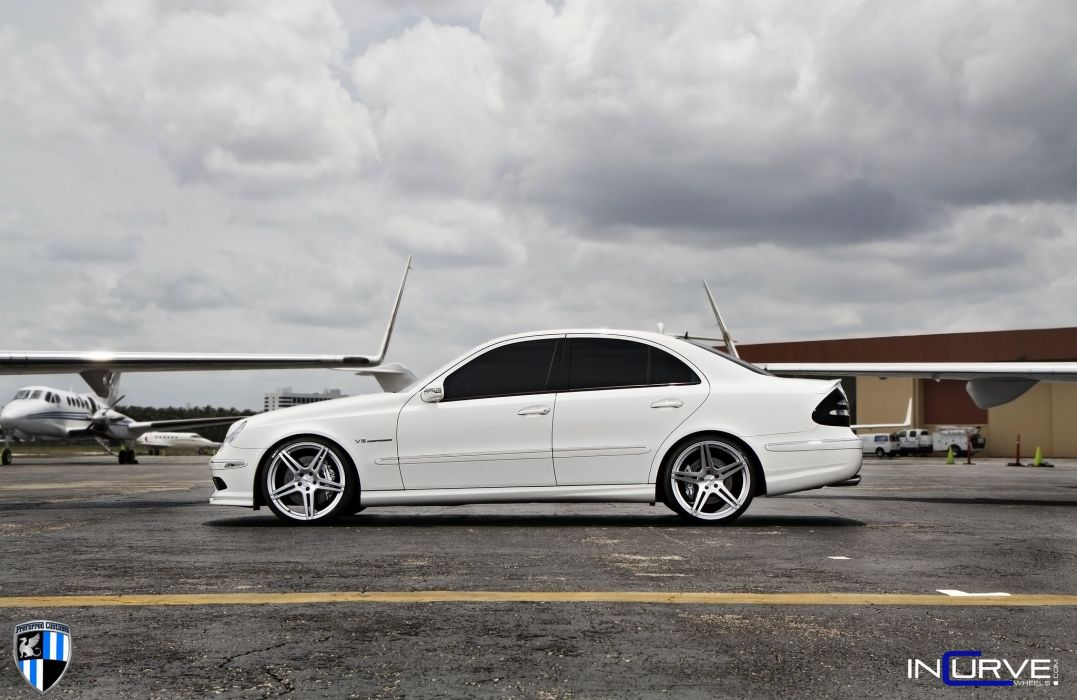 Incurve Wheels tuning cars mercedes E55 AMG wallpaper