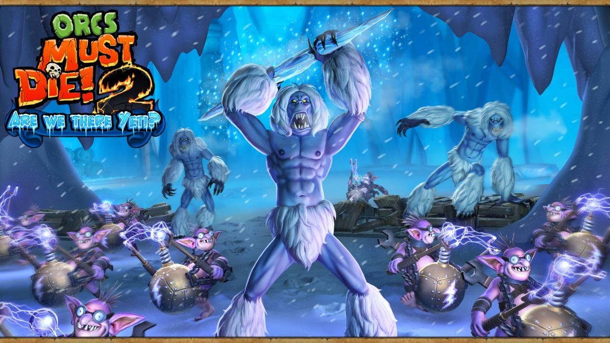 ORCS MUST DIE fantasy fighting strategy action simulator 1omd tower defense warrior orc wallpaper