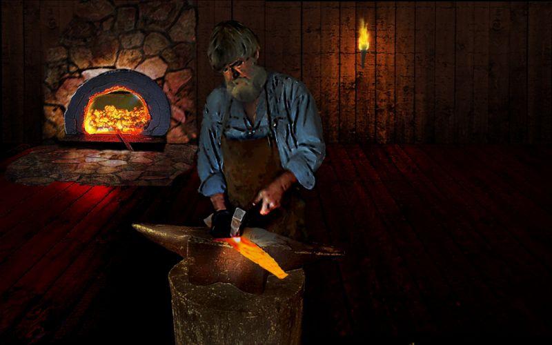 Dark blacksmith smithie forge craftsman hot coal wallpaper