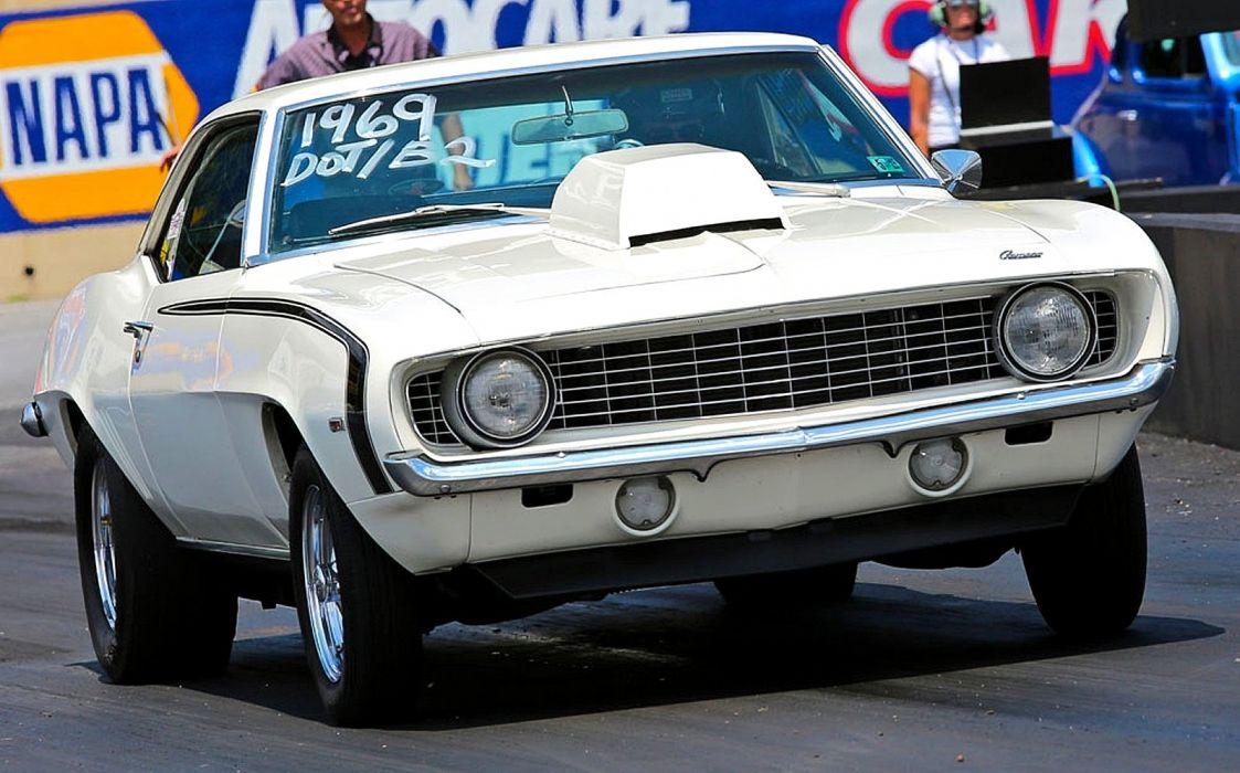 1969 Chevrolet Chevy Camaro Drag Hot USA 1600x997 wallpaper