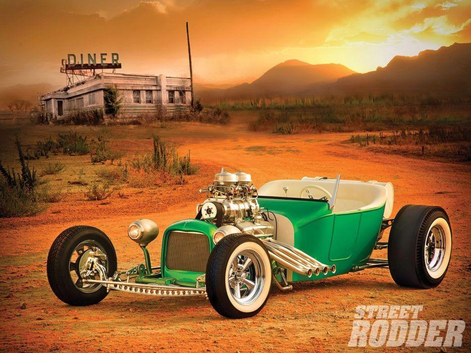 1924 Ford ModelT Tbucket Hotrod Hot Rod Custom USA 1600x1200 (1) wallpaper