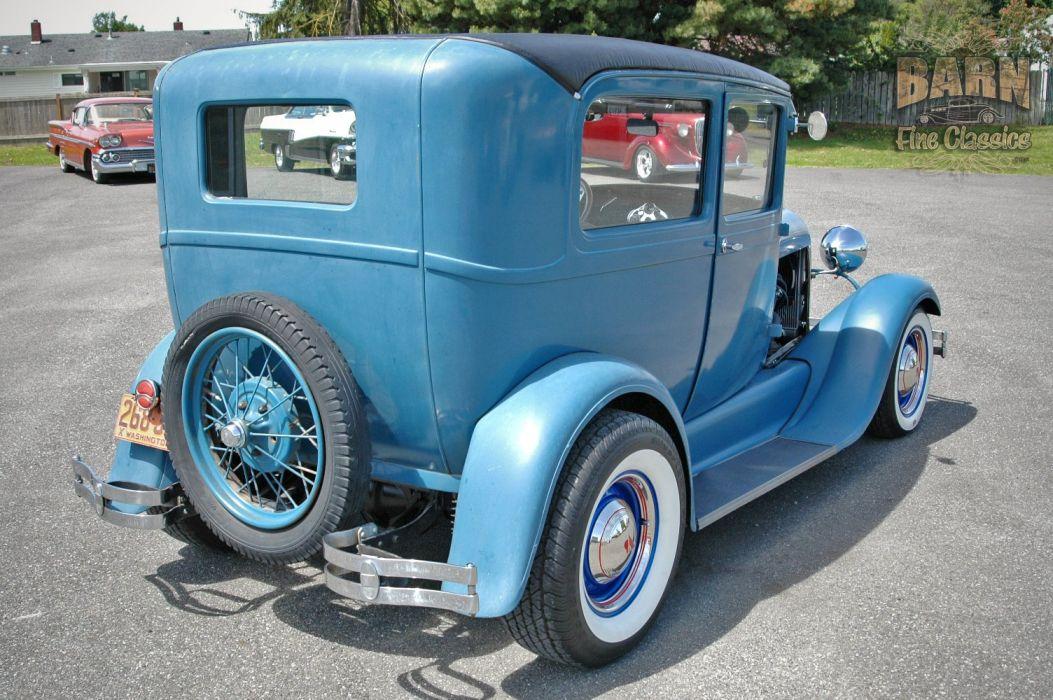 1928 Ford ModelA Sedan Hotrod Hot Rod Custom USA 1500x1000 (05) wallpaper