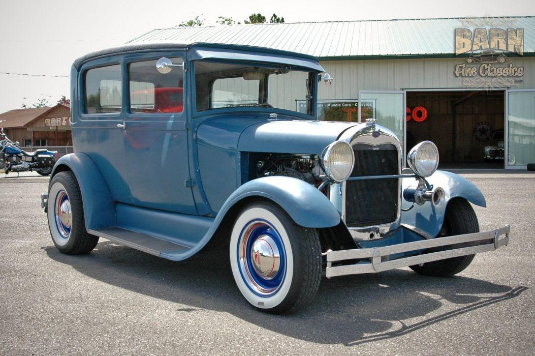 1928 Ford ModelA Sedan Hotrod Hot Rod Custom USA 1500x1000 (02) wallpaper