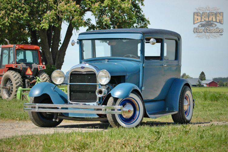 1928 Ford ModelA Sedan Hotrod Hot Rod Custom USA 1500x1000 (01) wallpaper