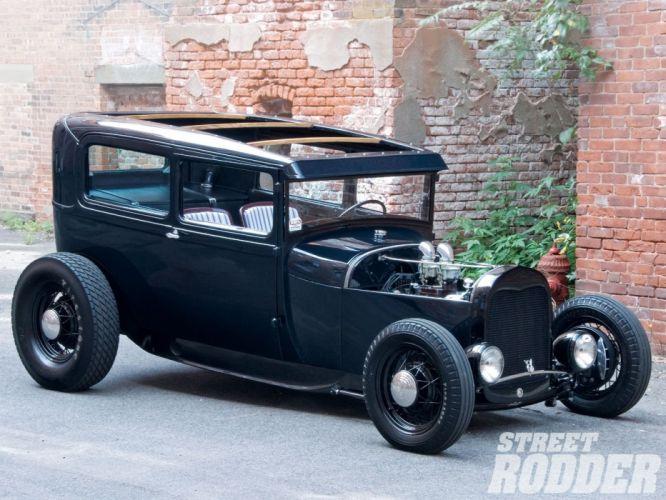 1928 Ford ModelA Sedan Hotrod Hot Rod Custom USA 1600x1200 (02) wallpaper
