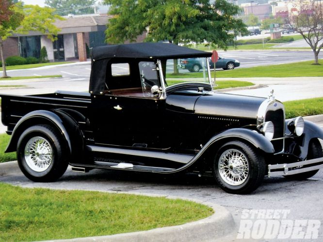 1929 Ford ModelA Pickup Roadster Hotrod Hot Rod USA 1600x1200 (01) wallpaper