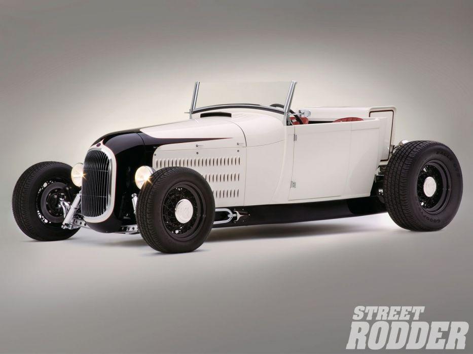 1929 Ford ModelA Pickup Roadster Modified Hotrod Hot Rod USA 1600x1200 (04) wallpaper