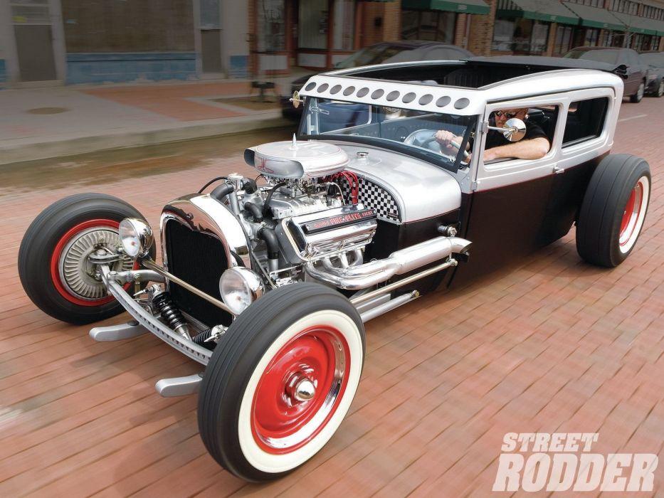 1929 Ford ModelA Sedan Hotrod Hot Rod USA 1600x1200 (05) wallpaper
