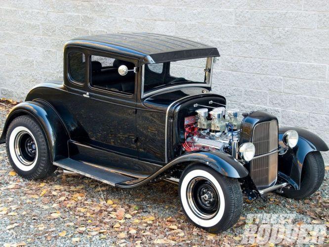 1930 Ford Five Window Coupe Hotrod Hot Rod Custom USA 1600x1200 -04 wallpaper