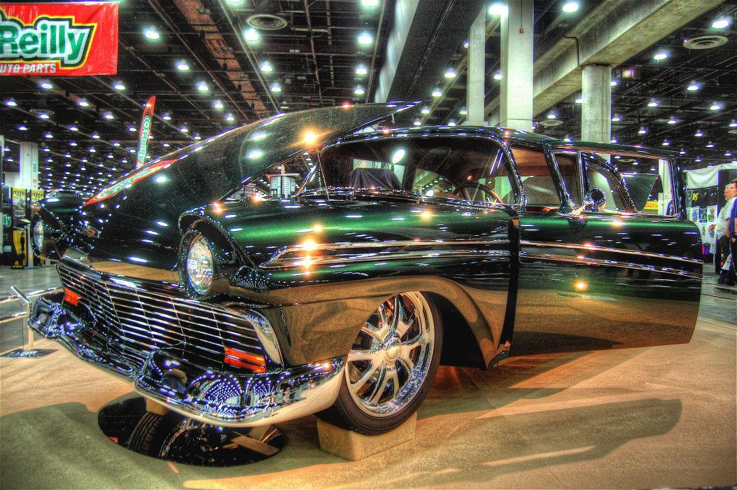 1957 Ford Fairlane Coupe Street Rod Custom USA 3000x2000 wallpaper