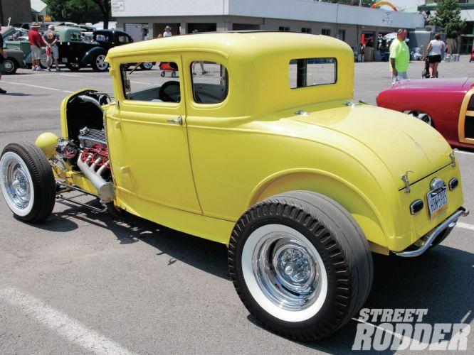 1930 Ford Five Window Coupe Hotrod Hot Rod Custom USA 1600x1200 -09 wallpaper