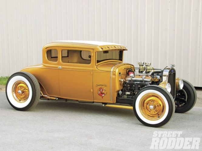 1930 Ford Five Window Coupe Hotrod Hot Rod Custom USA 1600x1200 -12 wallpaper