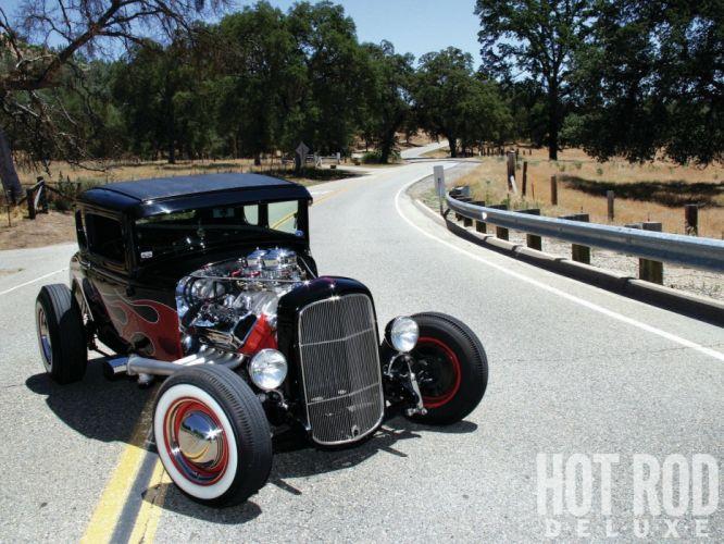 1930 Ford Five Window Coupe Hotrod Hot Rod Custom USA 1600x1200 -37 wallpaper