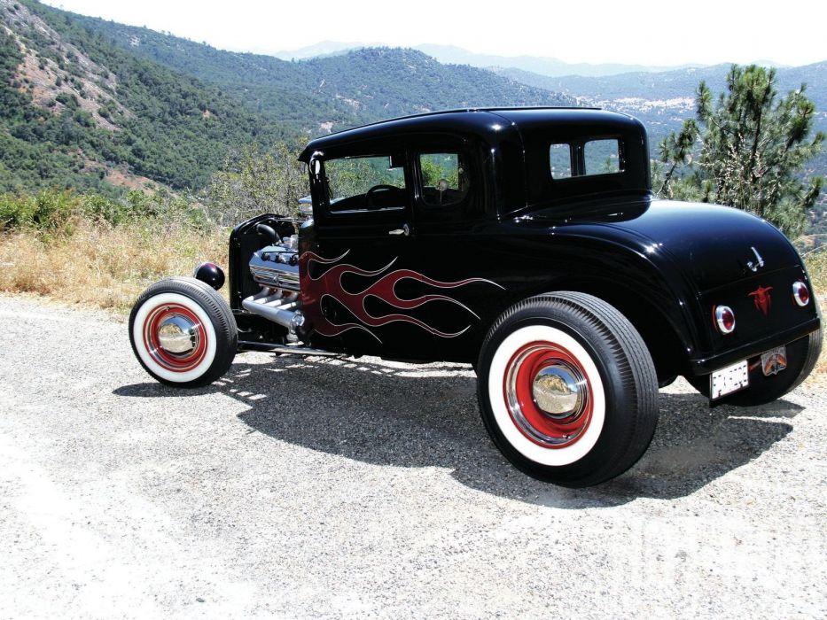 1930 Ford Five Window Coupe Hotrod Hot Rod Custom USA 1600x1200 -38 wallpaper
