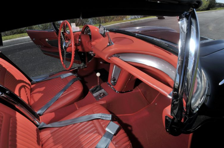 1958 Chevrolet Corvette 283 290HP Ramjet Fuel Injection muscle supercar retro wallpaper