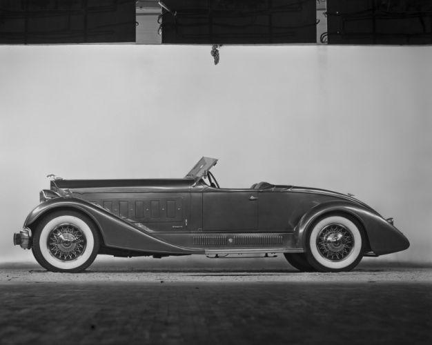 1932 Packard Twin Six Brown Bomber Boattail Speedster luxury retro vintage wallpaper