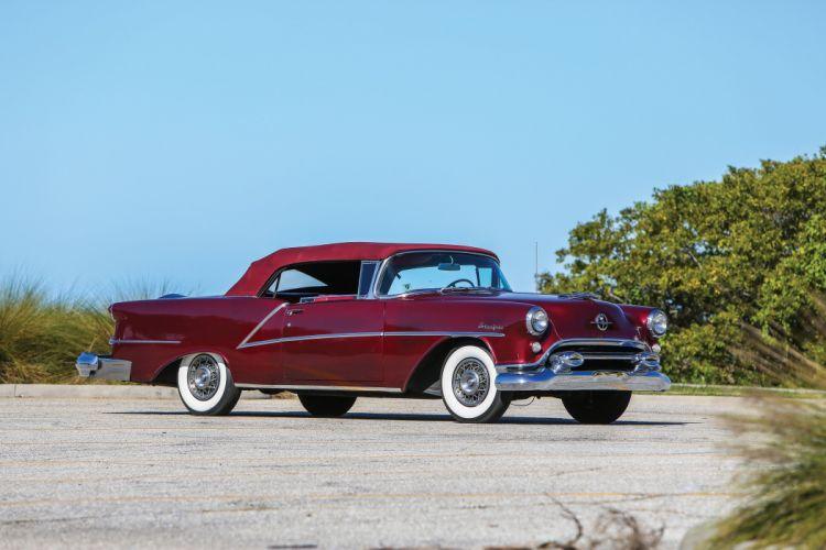 1954 Oldsmobile 98 Starfire Convertible 3067DX 9-8 luxury retro wallpaper