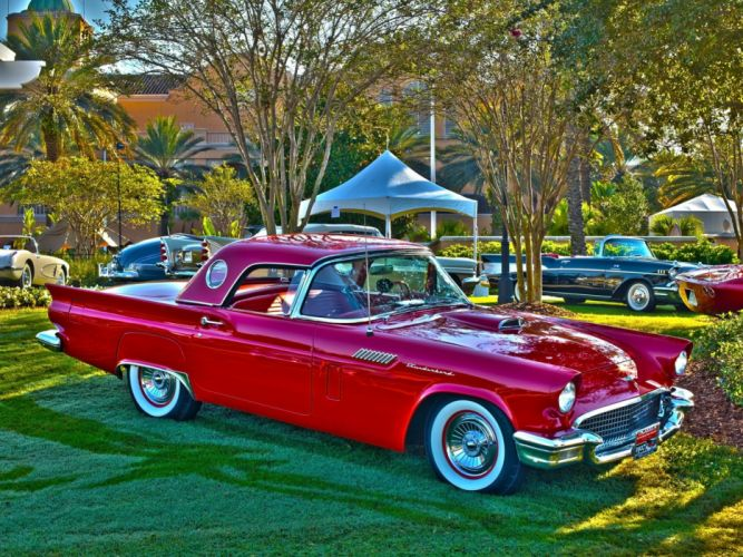 1957 Ford Thunderbird retro muscle luxury wallpaper