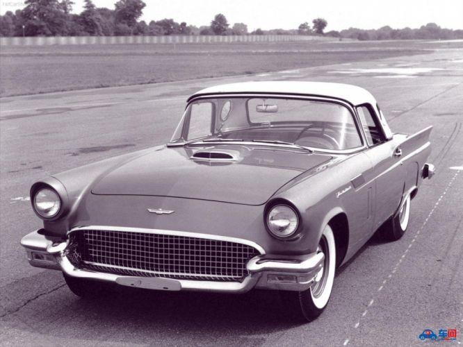 1957 Ford Thunderbird retro muscle luxury wallpaper