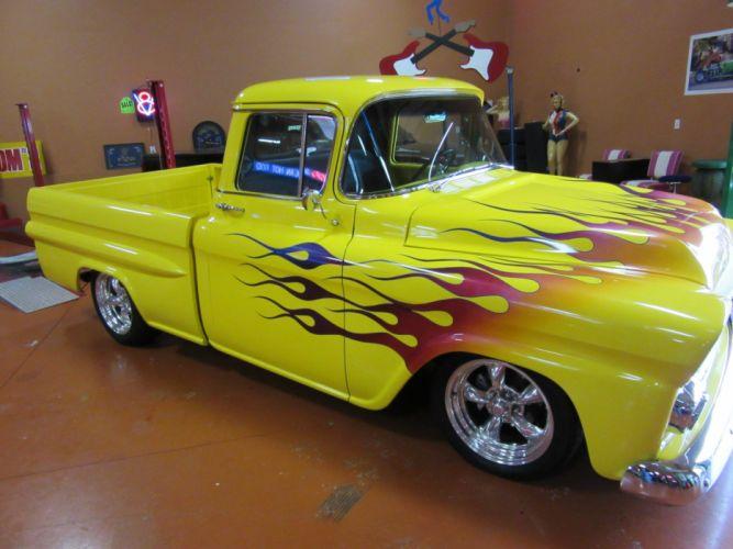 1958 Chevrolet Fleetside Pickup 350ci custom retro hot rod rods tuning wallpaper