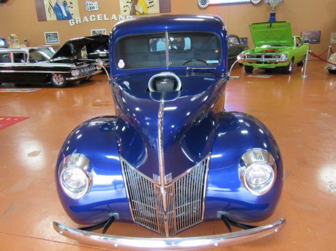 1940 Ford Pickup 427ci blower hot rod rods custom retro wallpaper