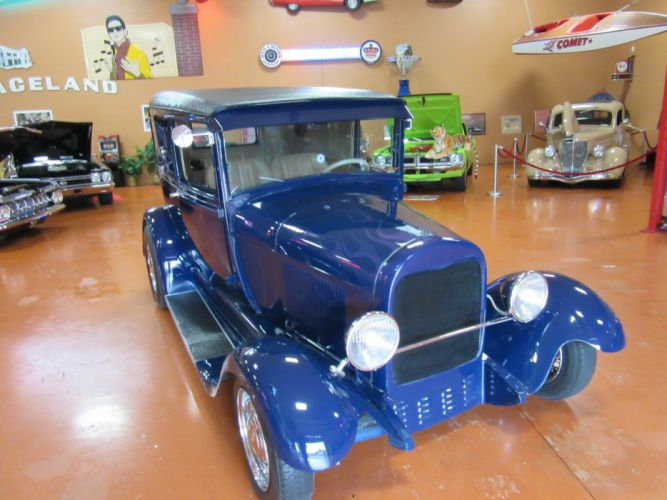 1928 Ford Sedan Delivery 350ci retro hot rod rods vintage custom wallpaper