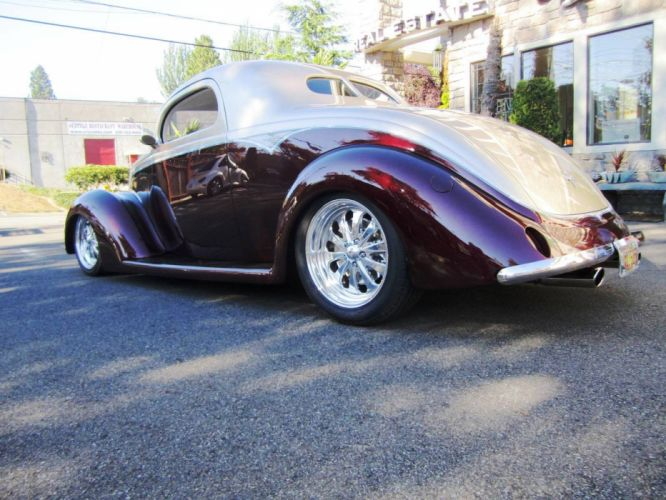 1937 Ford 3Window Coupe 350ci custom hot rod rods retro vintage wallpaper