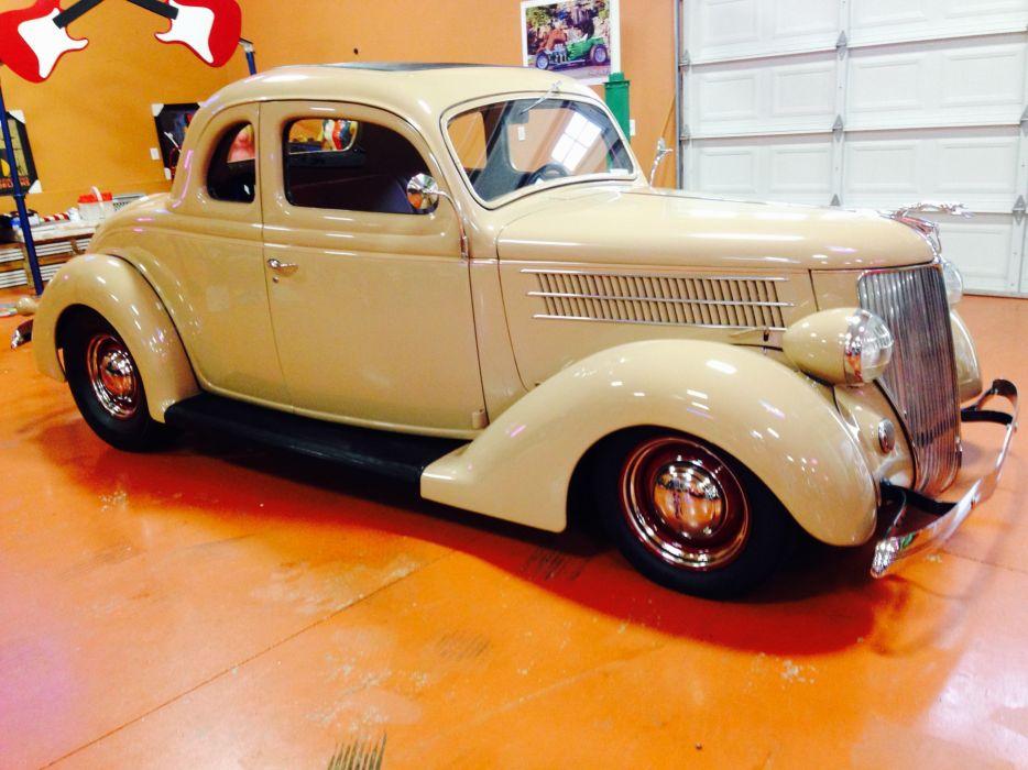 1936 Ford 5Window Coupe 350ci hot rod rods custom retro vintage wallpaper