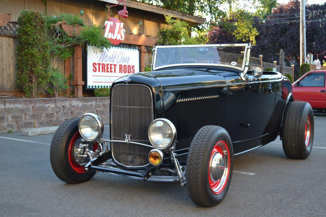 1932 Ford Roadster hot rod rods retro vintage wallpaper