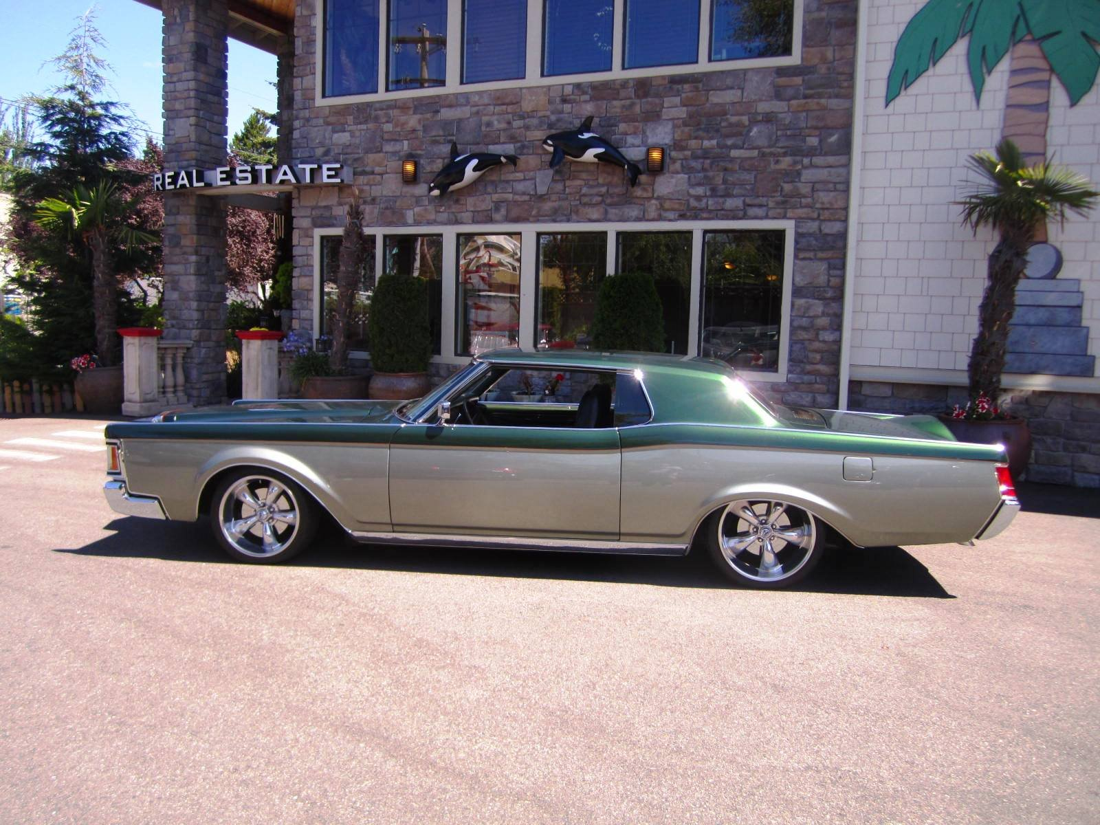 A Lowered Shaved 71 Lincoln Mark Iii With Two Tone Body Go Ahead