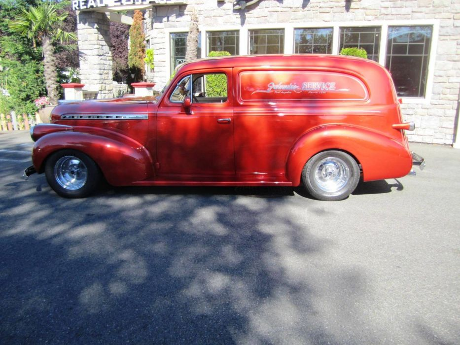 1940 Chevrolet Sedan Delivery 350ci 330hp custom hot rod rods retro wallpaper