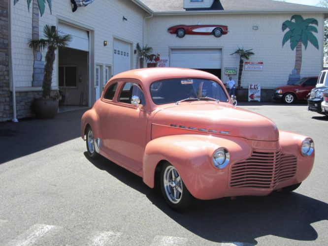 1941 Chevrolet Coupe 350ci hot rod rods custom retro wallpaper