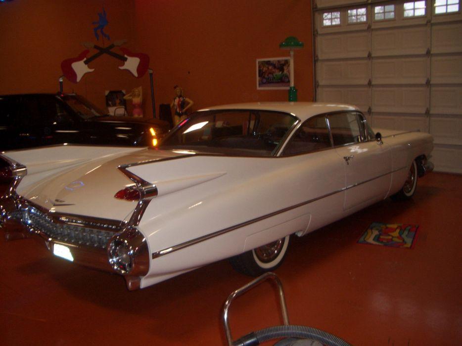 1959 Cadillac Coupe DeVille retro luxury wallpaper