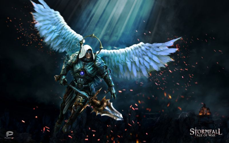 STORMFALL medieval online strategy fantasy fighting action 1sfall mmo rts warrior angel wallpaper