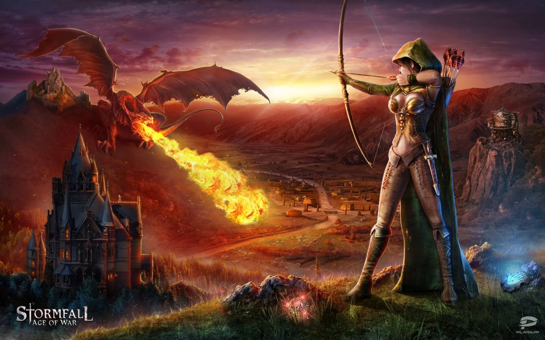 STORMFALL medieval online strategy fantasy fighting action 1sfall mmo rts warrior dragon wallpaper
