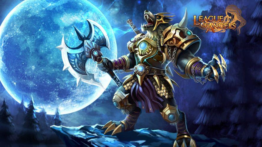 LEAGUE Of ANGELS loa fantasy mmo rpg online 1loa fighting action angel warrior werewolf moon wallpaper
