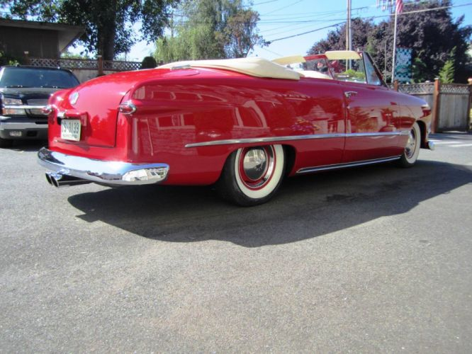 1950 Ford Deluxe Convertible custom hot rod rods retro wallpaper
