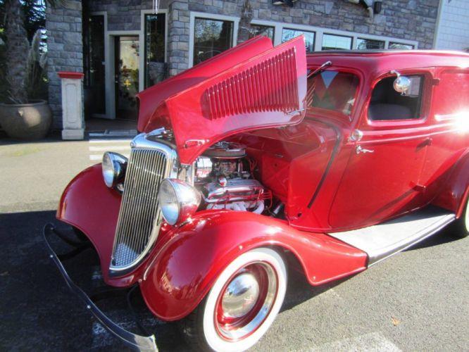 1934 Ford Sedan Delivery 350ci hot rod rods custom retro vintage wallpaper