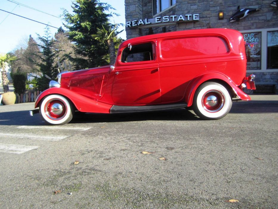 1934 Ford Sedan Delivery 350ci hot rod rods custom retro vintage wallpaper