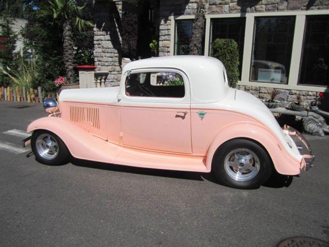 1933 Chevrolet 3Window 350ci hot rod rods retro vintage custom wallpaper