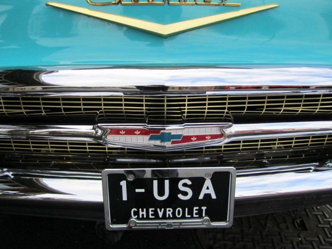 1957 Chevrolet Bel Air Convertible 283ci retro wallpaper