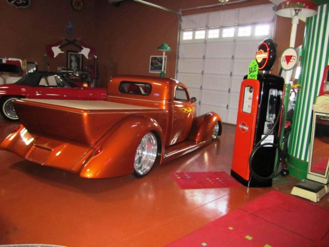 1937 Ford Oze Roadster Pickup LS1 hot rod rods custom retro vintage wallpaper