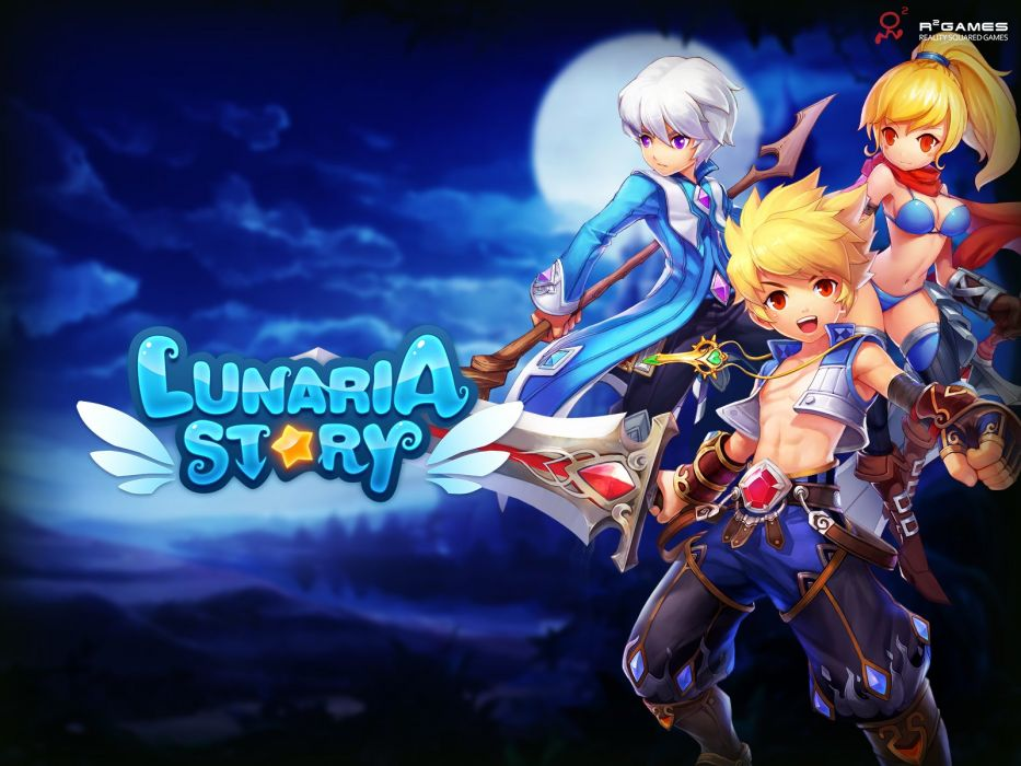 LUNARIA STORY mmo rpg fantasy scrolling online platform adventure fighting 1lstory action anime wallpaper